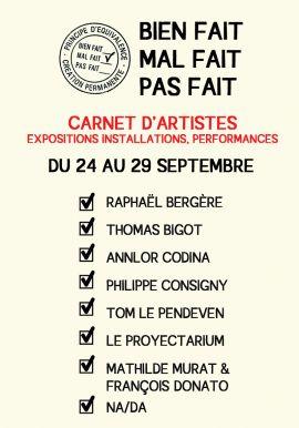 carnet d'artistes